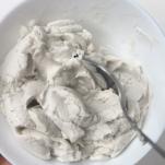Until cream separates